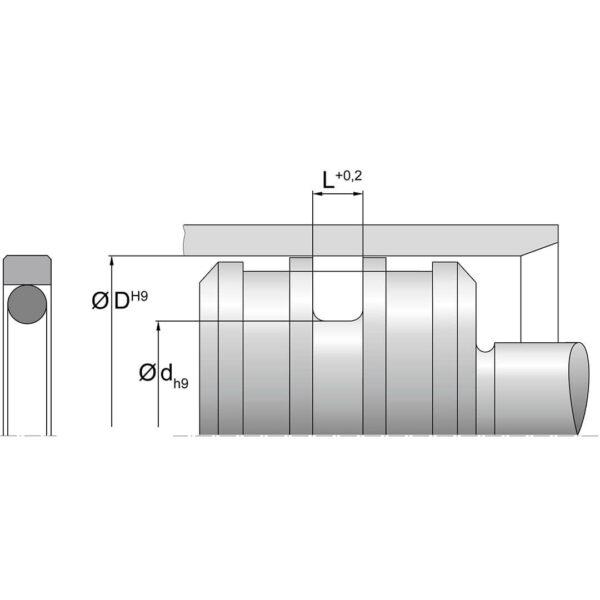 Stempeltetning KPOR 30 Dimensjoner TTP SEALS